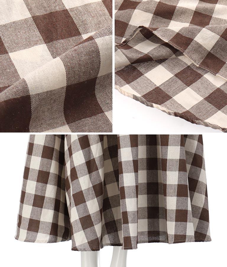 ギンガムチェックフレアロングスカート(ボトムス・パンツ /スカート) | CHILLE