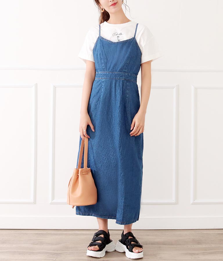 デニムタイトキャミワンピース(ワンピース・ドレス/ロングワンピ) | CHILLE