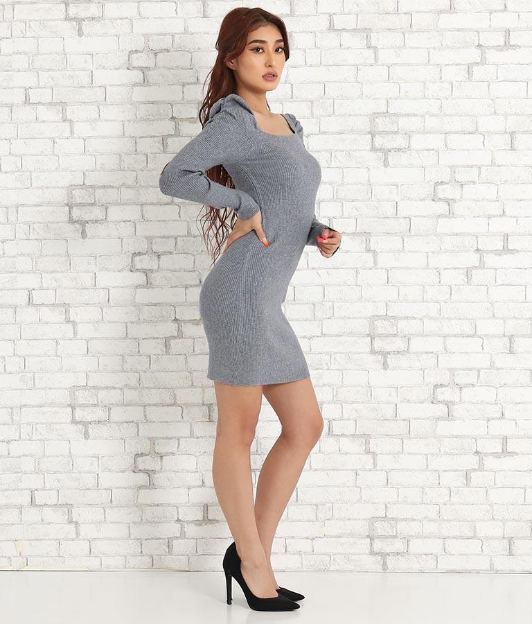 スクエアネックパワショルリブワンピース(ワンピース・ドレス/ミニワンピ) | anap Latina