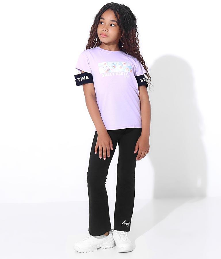 袖バイカラーフォトプリントトップス(トップス/Tシャツ) | ANAP KIDS