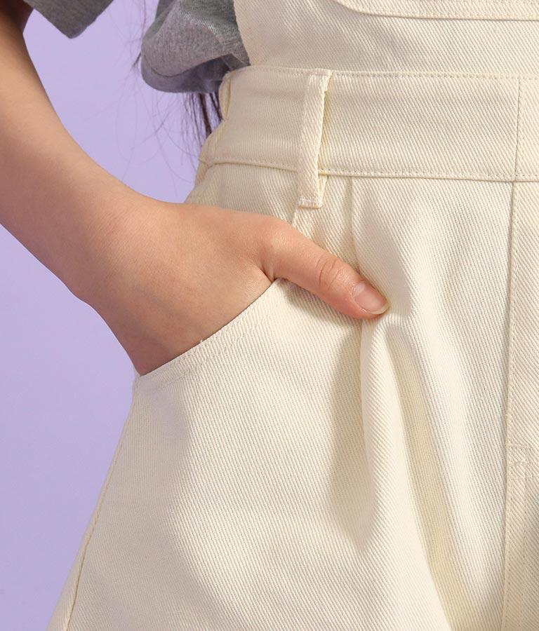 肩テープロゴキュロットサロペット(ワンピース・ドレス/サロペット/オールインワン) | ANAP GiRL