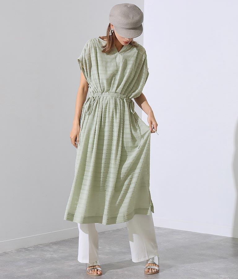 シアーボーダーインナー付きワンピース(ワンピース・ドレス/ロングワンピ) | Settimissimo