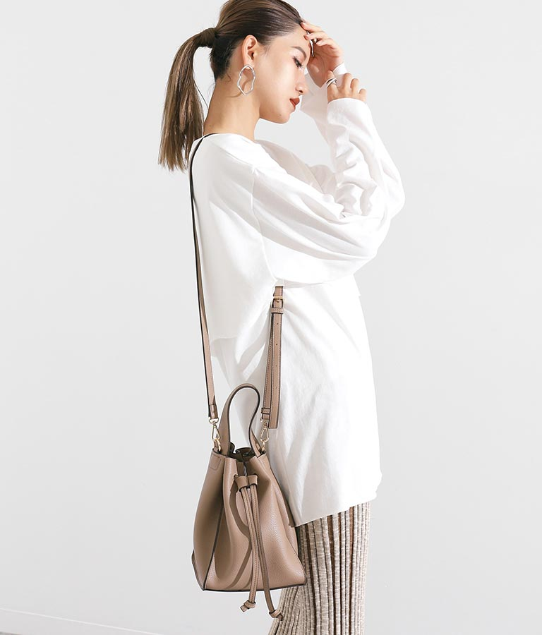 ワンハンドルドロストショルダーバッグ(バッグ・鞄・小物/ショルダーバッグ) | Alluge