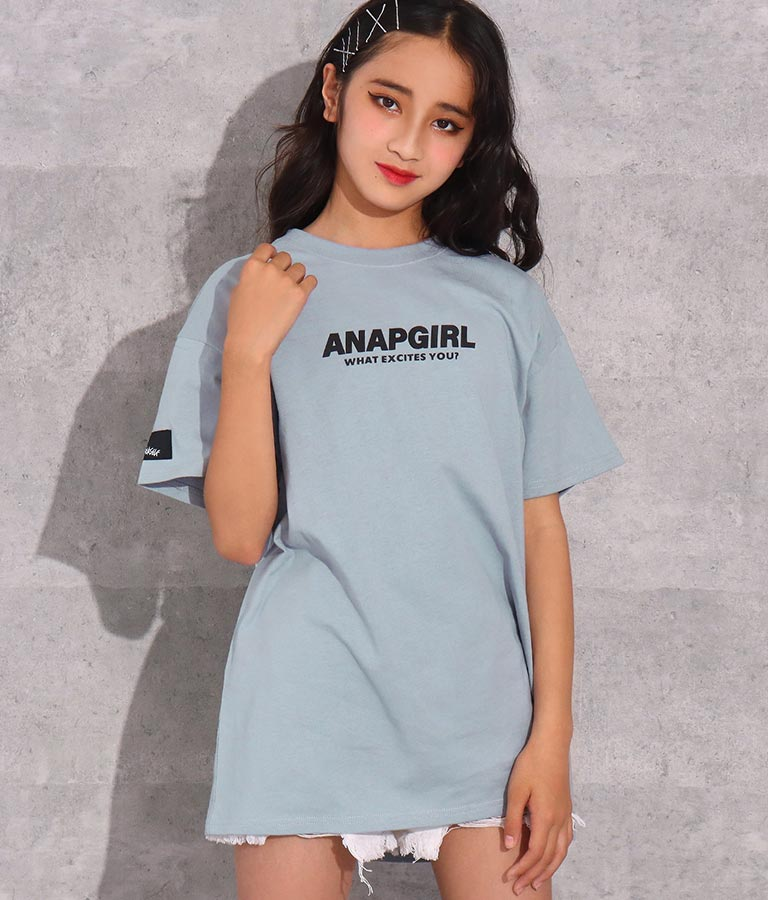 バックランダムロゴTシャツ(トップス/Tシャツ) | ANAP GiRL