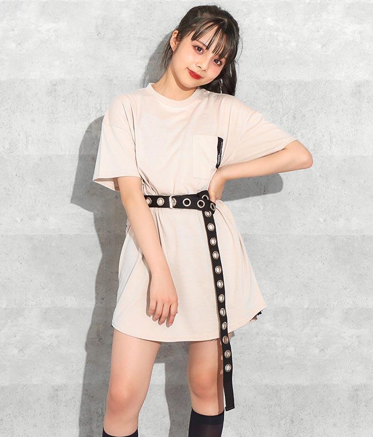 後ろビッグロゴラウンドTシャツ(トップス/Tシャツ) | ANAP GiRL