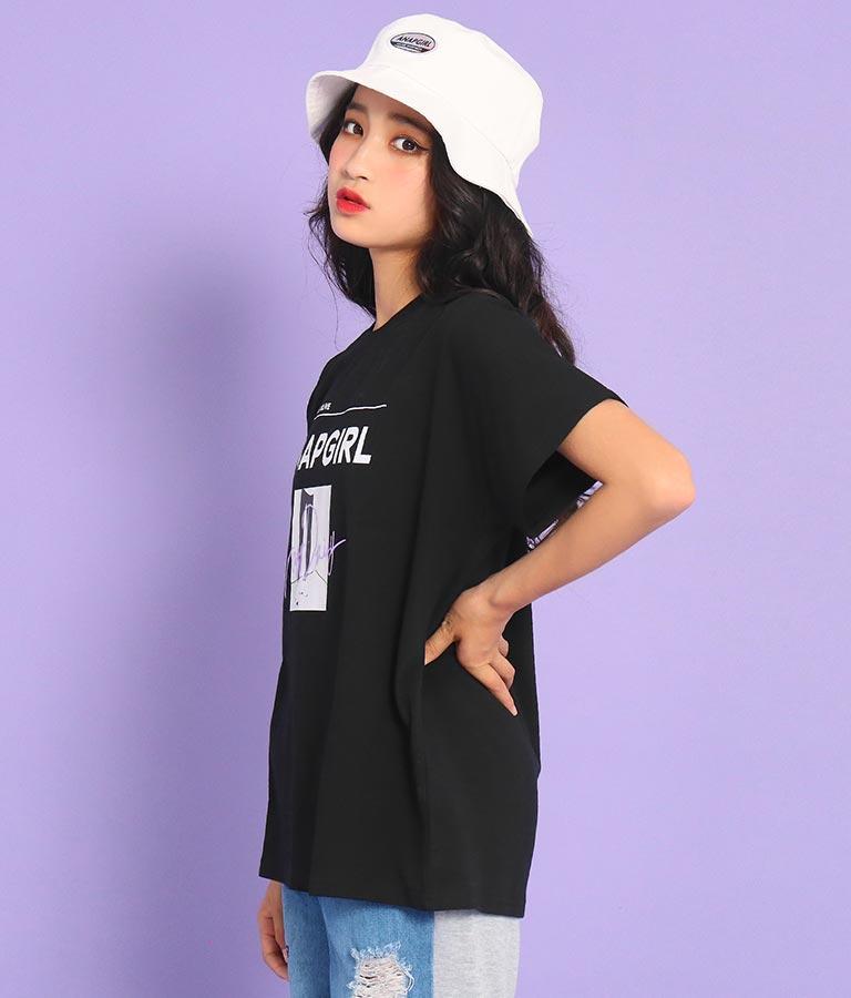 モノトーン転写Tシャツ(トップス/Tシャツ)   ANAP GiRL