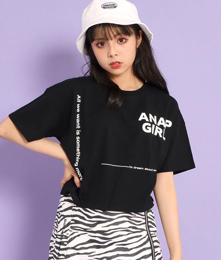 ロゴクロップドTシャツ(トップス/Tシャツ)   ANAP GiRL