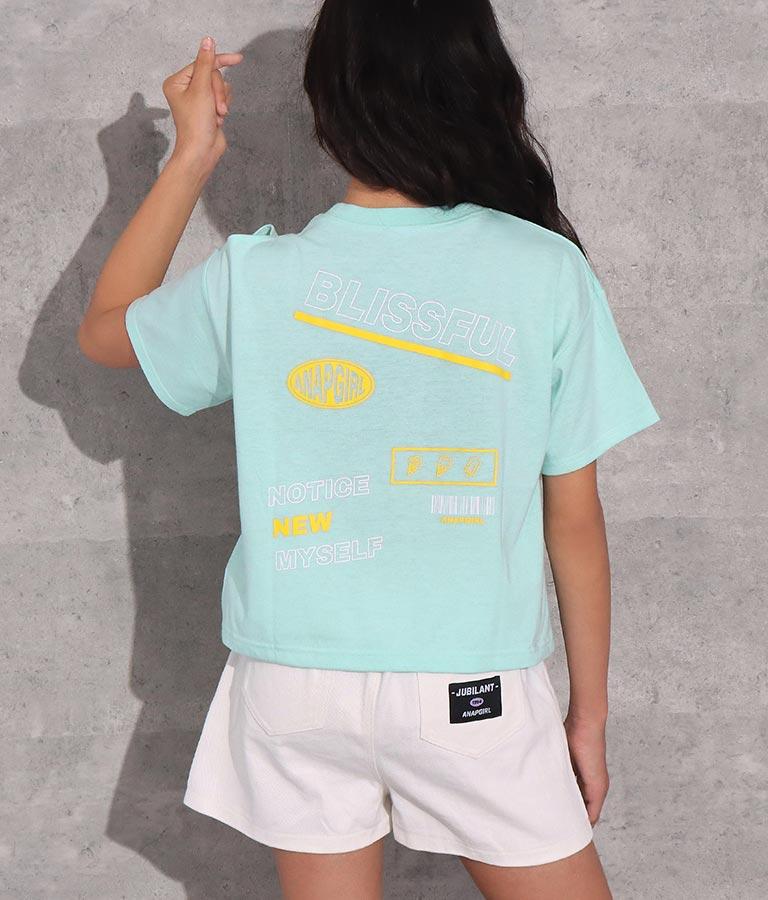 スパンコール入りワッペントップス(トップス/Tシャツ) | ANAP GiRL