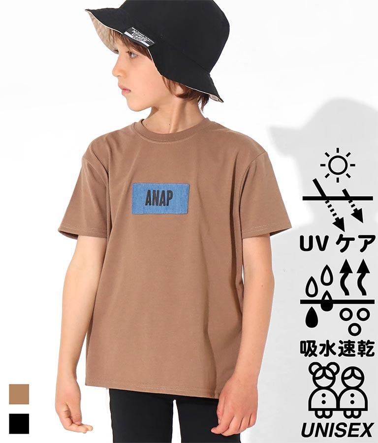吸水速乾デニムパッチビッグTシャツ