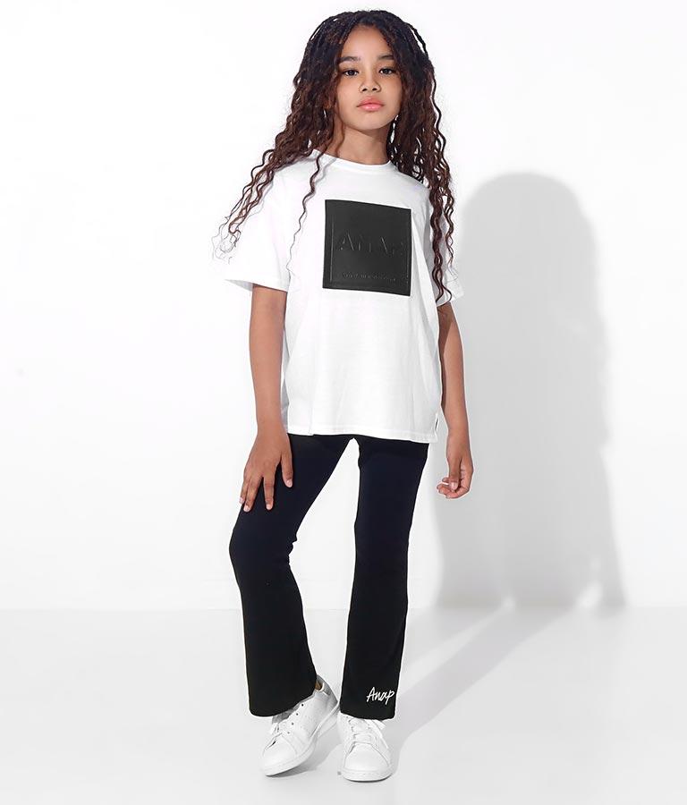 フェイクレザーボックスビッグTシャツ(トップス/Tシャツ) | ANAP KIDS