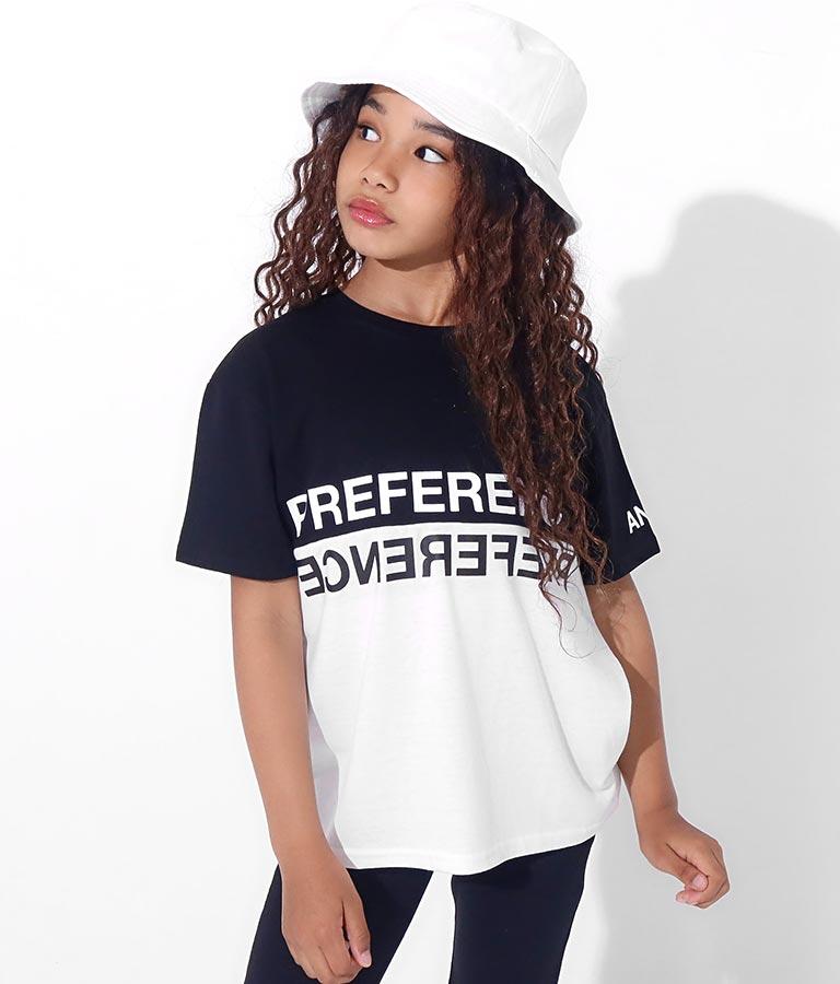バイカラープリントビッグTシャツ(トップス/Tシャツ) | ANAP KIDS