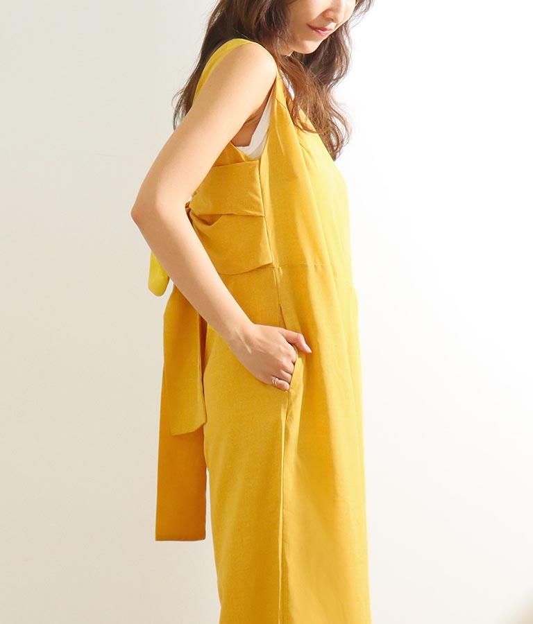 バックリボンオールインワン(ワンピース・ドレス/サロペット/オールインワン) | CHILLE