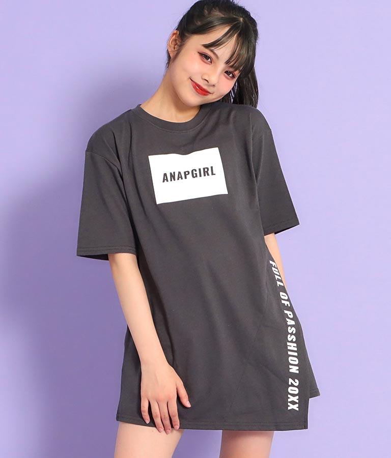 アシンメトリーチュニックTシャツ(トップス/Tシャツ) | ANAP GiRL