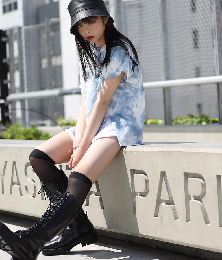 前スリットタイダイトップス(トップス/Tシャツ・チュニック) | ANAP GiRL