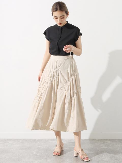 シャーリングデザインスカート