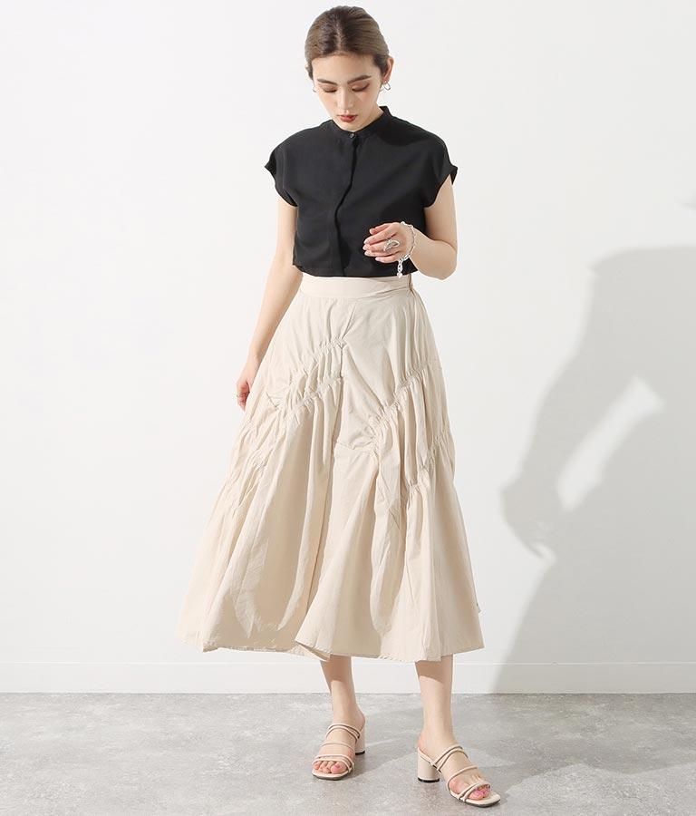 シャーリングデザインスカート(ボトムス・パンツ /スカート) | Settimissimo