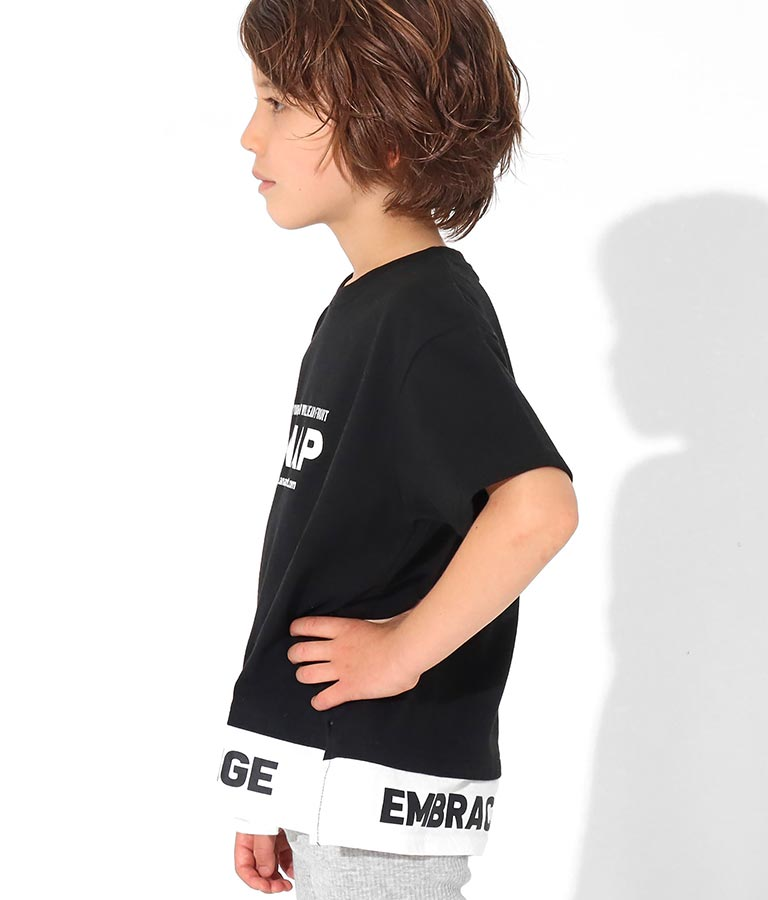 レイヤード風ビッグTシャツ(トップス/Tシャツ)   ANAP KIDS