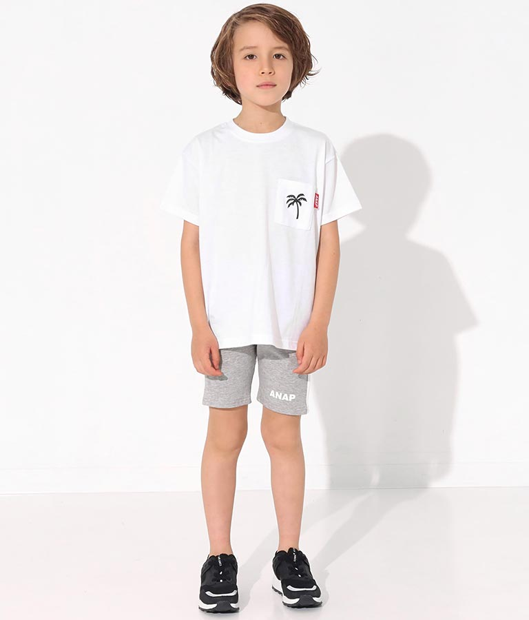 制菌ポケット付きパームツリービッグTシャツ(トップス/Tシャツ) | ANAP KIDS