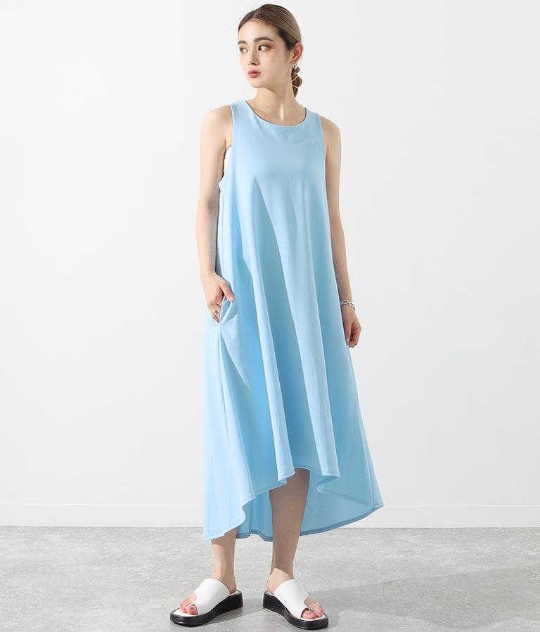 ノースリーブポケット付テールカットロングワンピース(ワンピース・ドレス/ロングワンピ)   Settimissimo