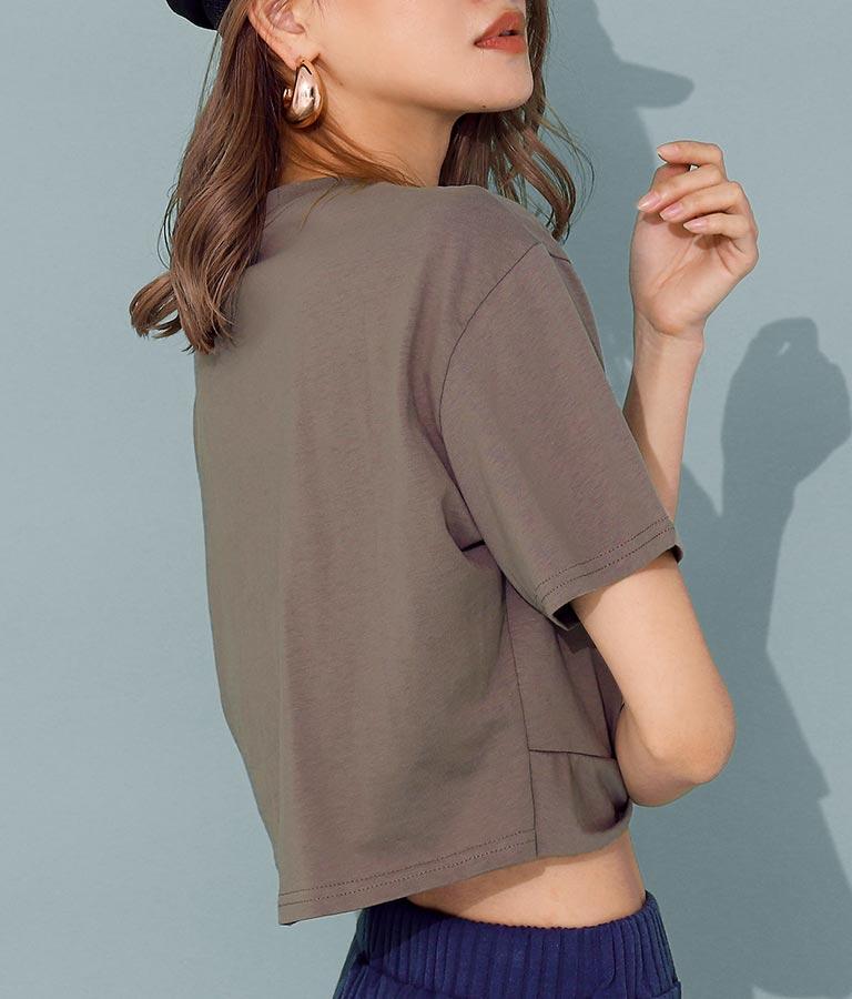 フロントツイストクロップドTシャツ(トップス/Tシャツ) | ANAP