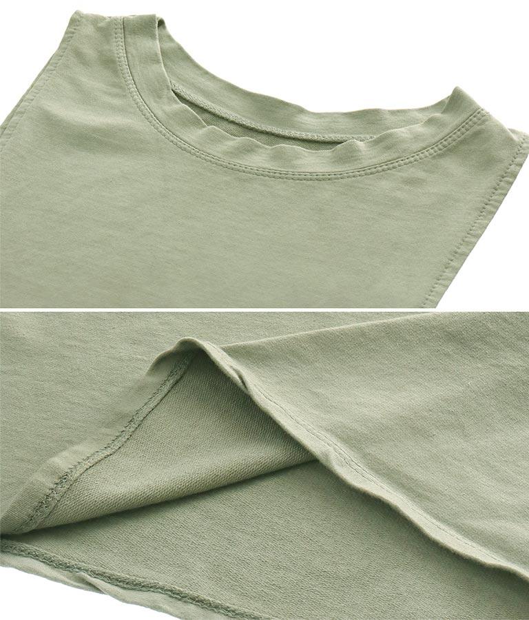 コットンノースリーブポケット付バルーンシルエットロングワンピース(ワンピース・ドレス/ロングワンピ) | Settimissimo