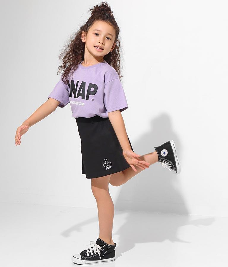 インパン付きチェリー刺繍スカート(ボトムス・パンツ /ショートパンツ・スカート)   ANAP KIDS