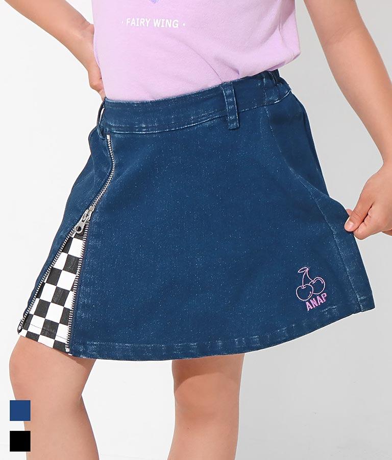 インパン付きチェリー刺繍スカート