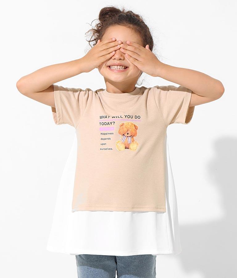 重ね着風ベアフォトチュニック(トップス/チュニック)   ANAP KIDS