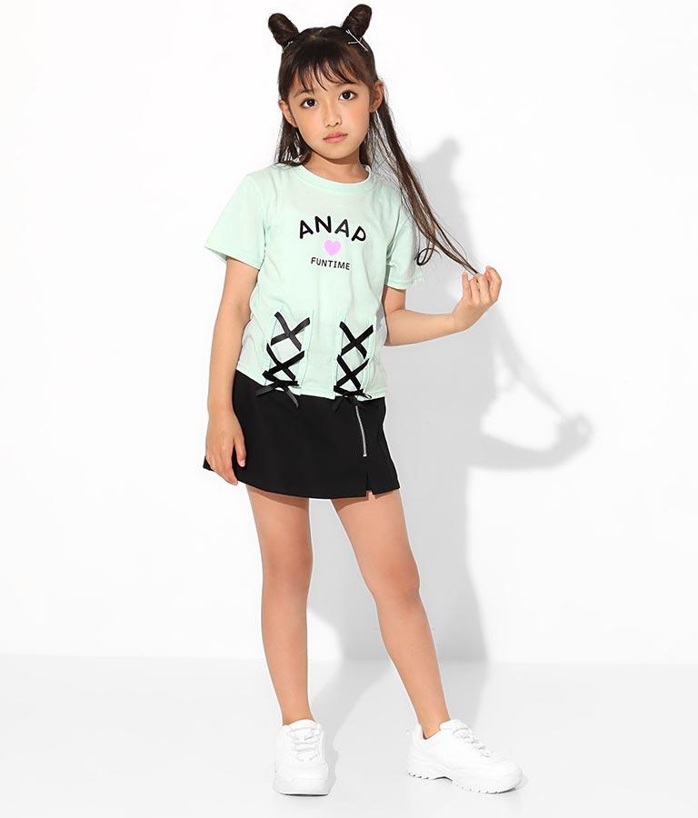 フロントレースアップTシャツ(トップス/Tシャツ) | ANAP KIDS