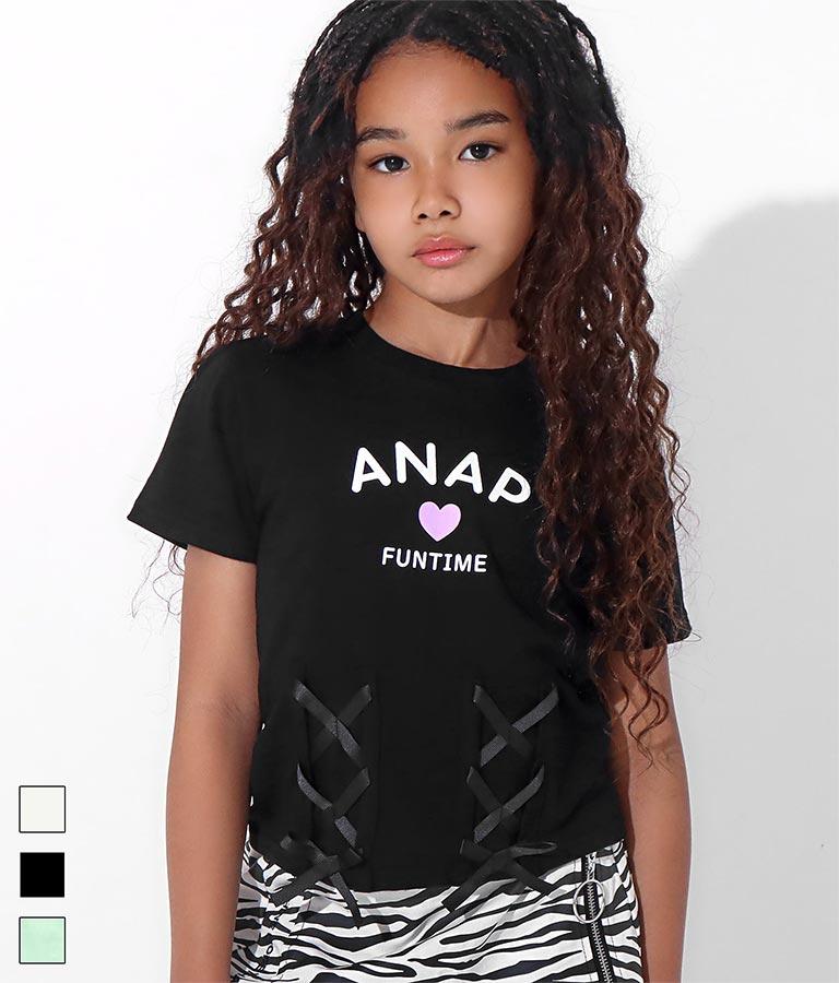 フロントレースアップTシャツ