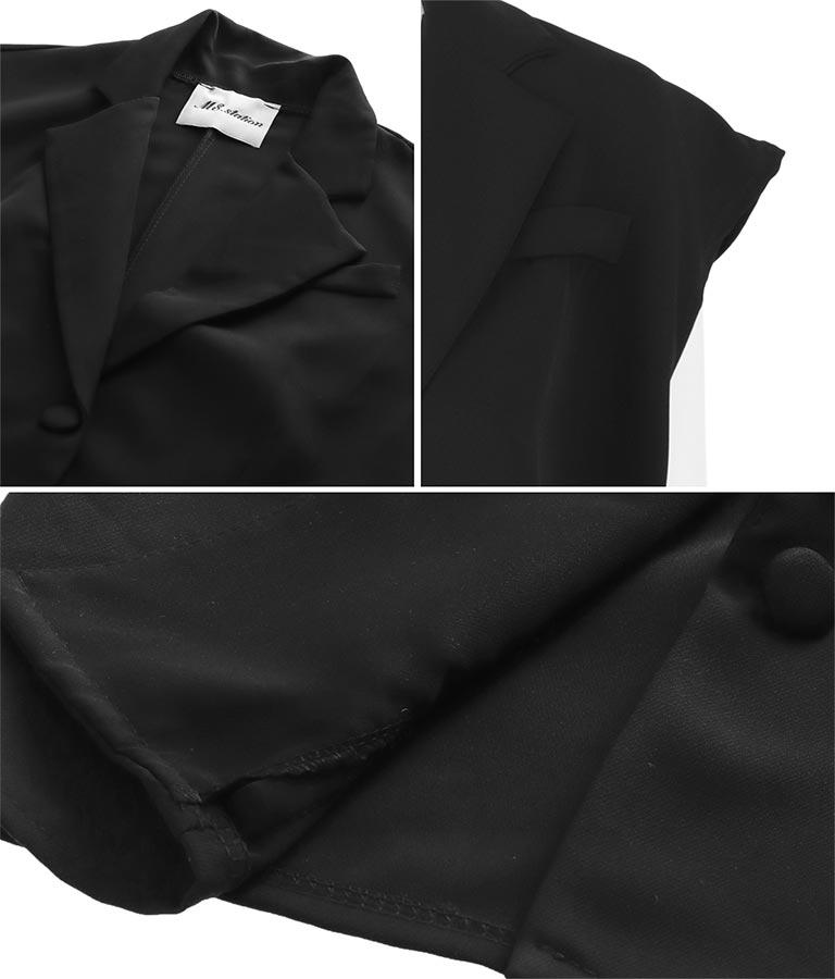 クルミボタンショート丈ジレ(アウター(コート・ジャケット) /ジャケット・ブルゾン) | Settimissimo