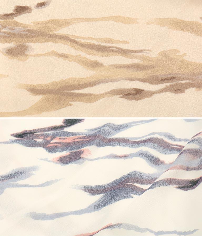 ペイントプリント楊柳ワンピース(ワンピース・ドレス/ロングワンピ) | CHILLE