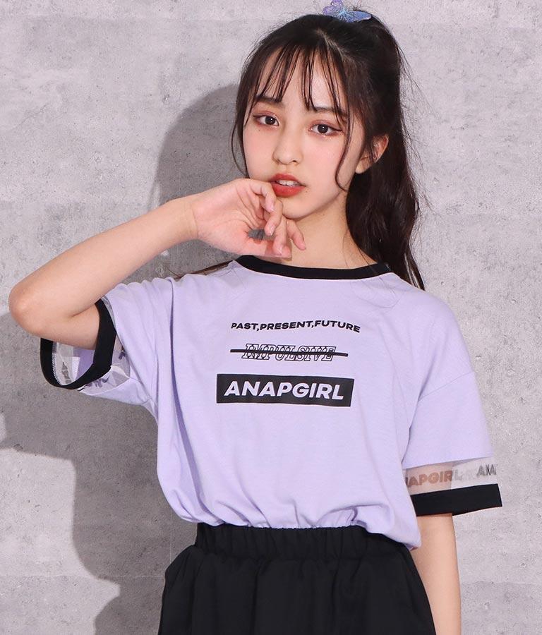 制菌袖チュール切替トップス(トップス/Tシャツ) | ANAP GiRL