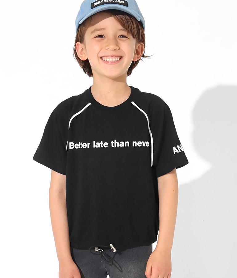 ラグランパイピングクロップドトップス(トップス/Tシャツ) | ANAP KIDS