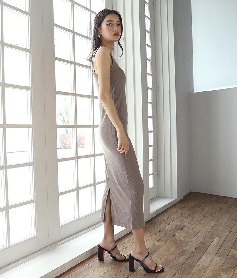 パッド入りリブワンピース(ワンピース・ドレス/ロングワンピ) | ANAP