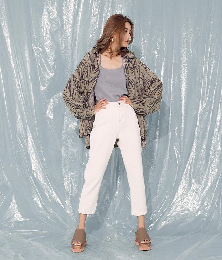 ゼブラ柄オーバーサイズシャツ(トップス/シャツ・ブラウス) | ANAP