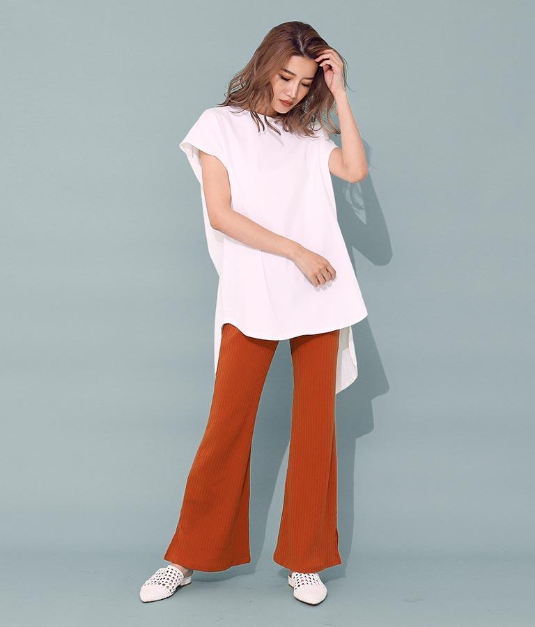 ツイストバックロングトップス(トップス/Tシャツ) | ANAP