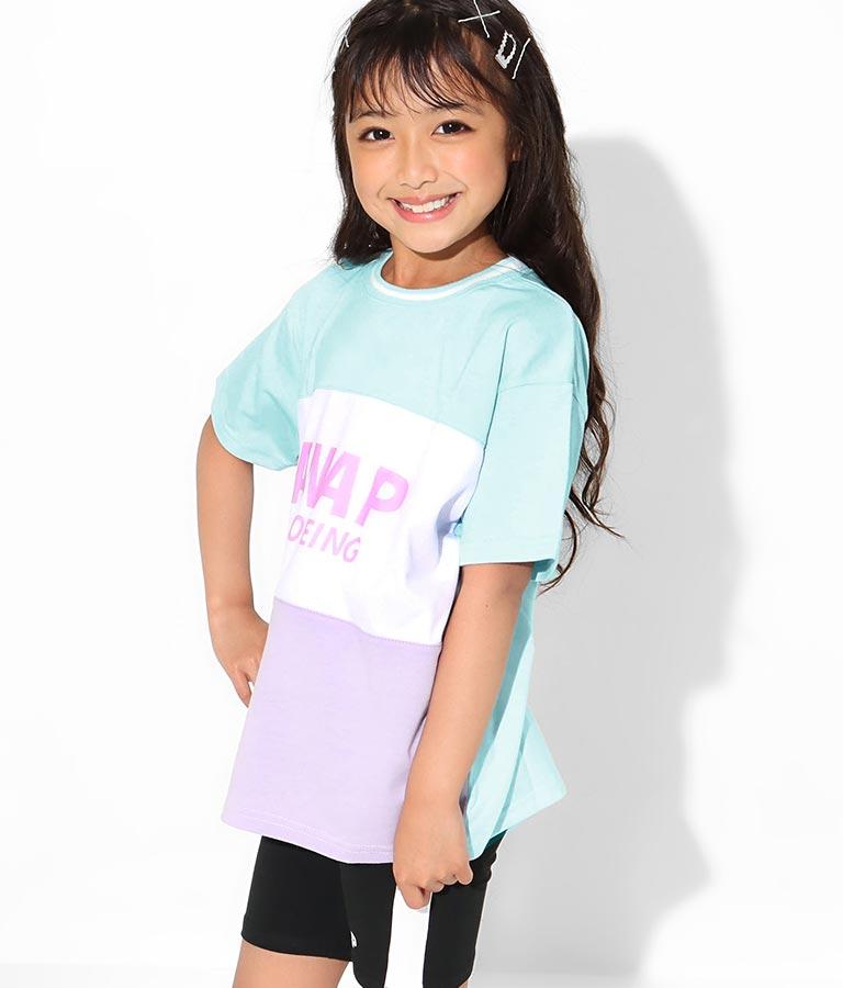 シャーベットカラーメッシュ切替ビッグTシャツ(トップス/Tシャツ) | ANAP KIDS