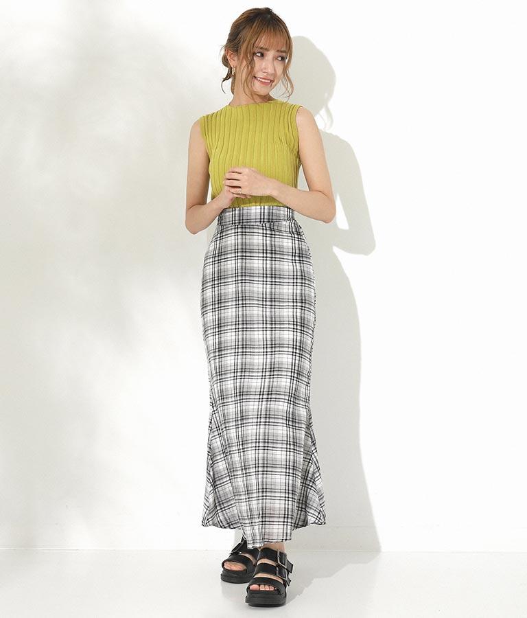 マカロンチェックマーメイドスカート(ボトムス・パンツ /スカート)   CHILLE