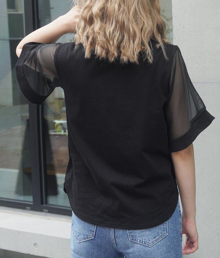 袖シアーTシャツ(トップス/Tシャツ)   CHILLE