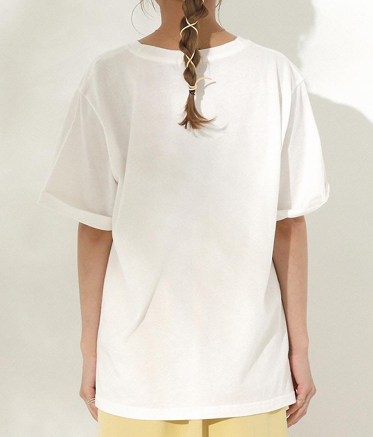 箔プリントTシャツ(トップス/Tシャツ) | CHILLE