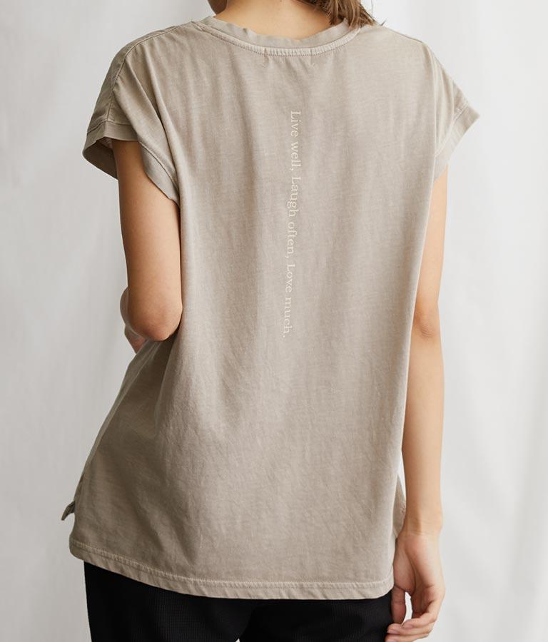 ピグメントプリントTシャツ(トップス/Tシャツ) | CHILLE