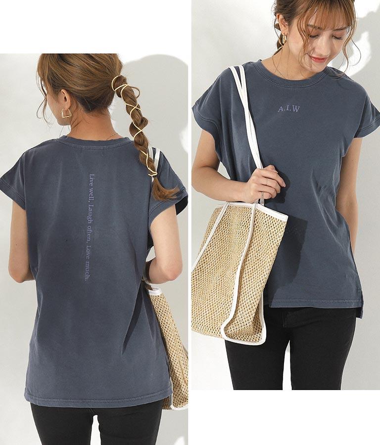 ピグメントプリントTシャツ