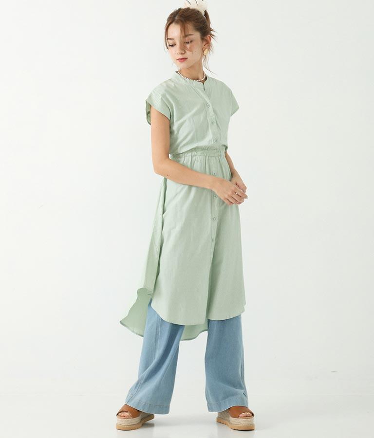 マカロンストライプシャツワンピース(ワンピース・ドレス/ロングワンピ)   CHILLE