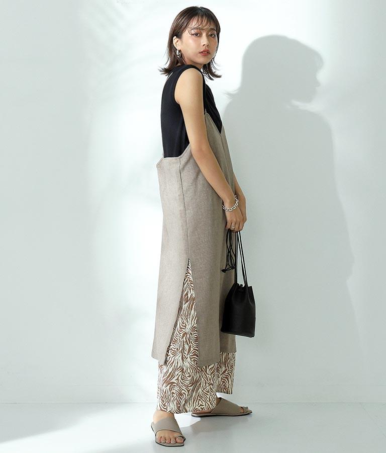 レイヤードライクキャミソールワンピース(ワンピース・ドレス/ロングワンピ・マキシ丈ワンピース) | Alluge