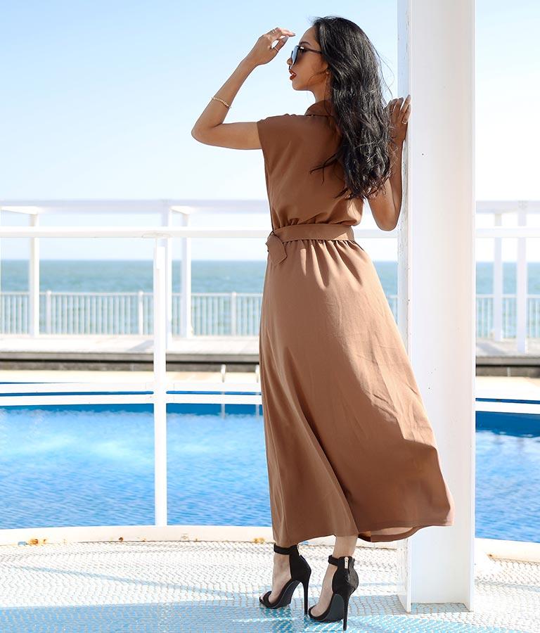 トレンチ風インパンツオールインワン(ワンピース・ドレス/サロペット/オールインワン)   anap Latina