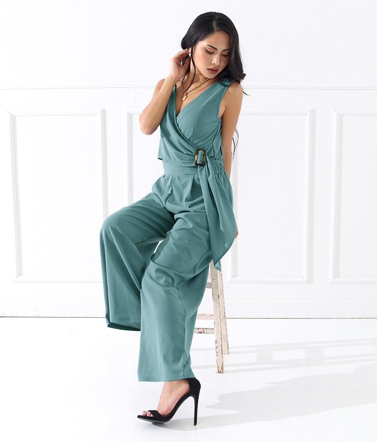 フロントカシュクールベルトオールインワン(ワンピース・ドレス/サロペット/オールインワン)   anap Latina