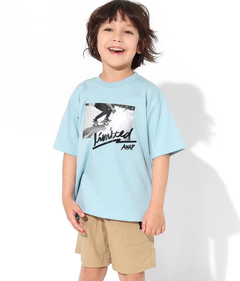 スケートボードフォトビッグTシャツ(トップス/Tシャツ) | ANAP KIDS