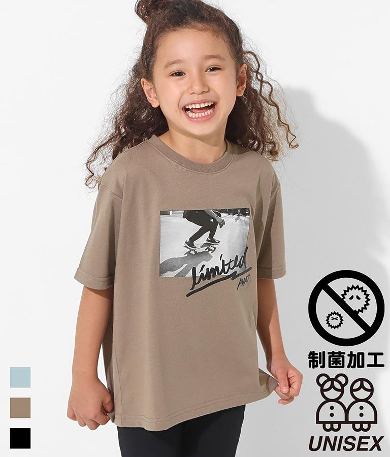 スケートボードフォトビッグTシャツ