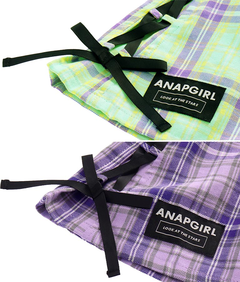 サイドレースアップチェックスカート(ボトムス・パンツ /スカート) | ANAP GiRL